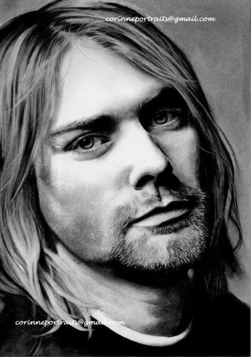 Sadness Wallpaper With Quotes Portrait Of Kurt Cobain By Sadness On Stars Portraits